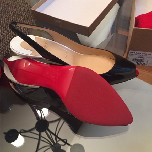 2868d6a7c1b Christian Louboutin size 11 (41) slingback shoes
